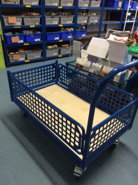 The trolley that 5and3 donated to the East Grinstead Foodbank