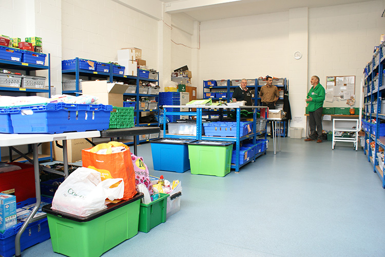 The Foodbank East Grinstead warehouse and storage management