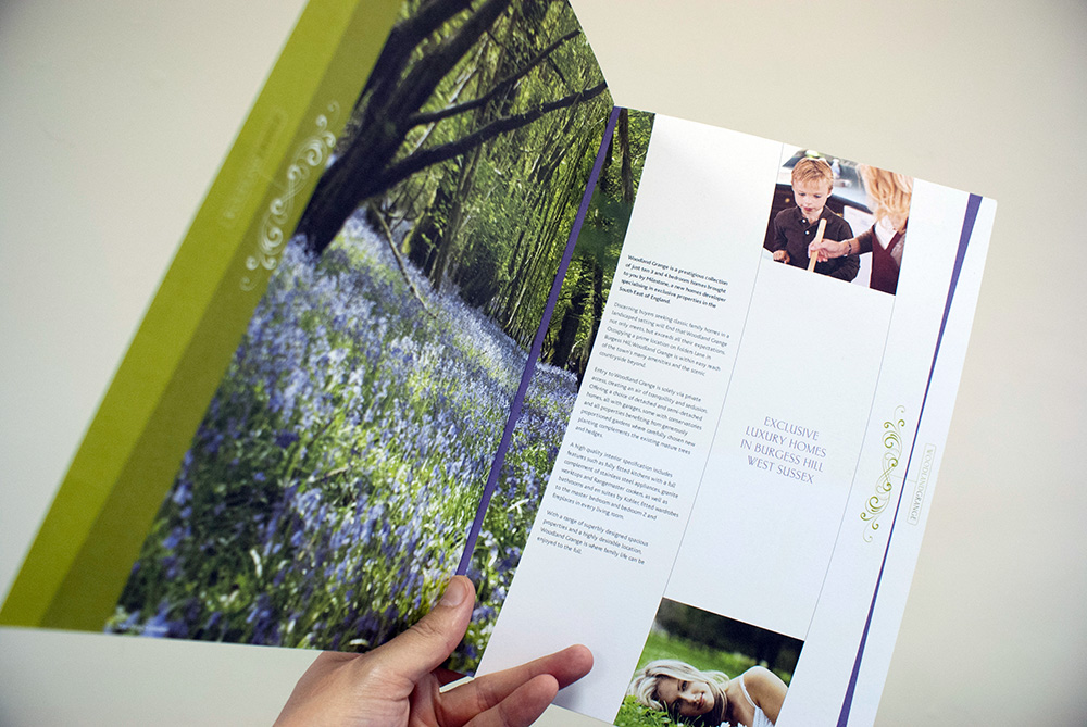 Woodland Grange Development Property Brochure design sussex