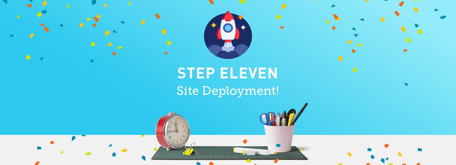 Website design process step eleven: Website deployment
