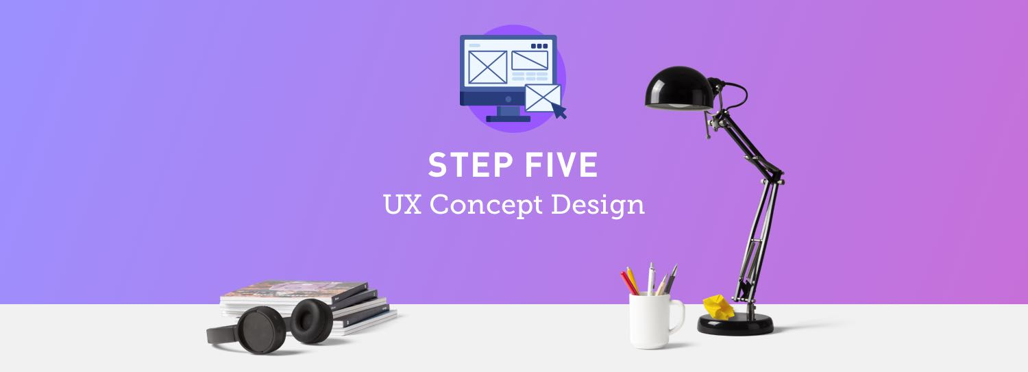 Website design process step five: UX concept design