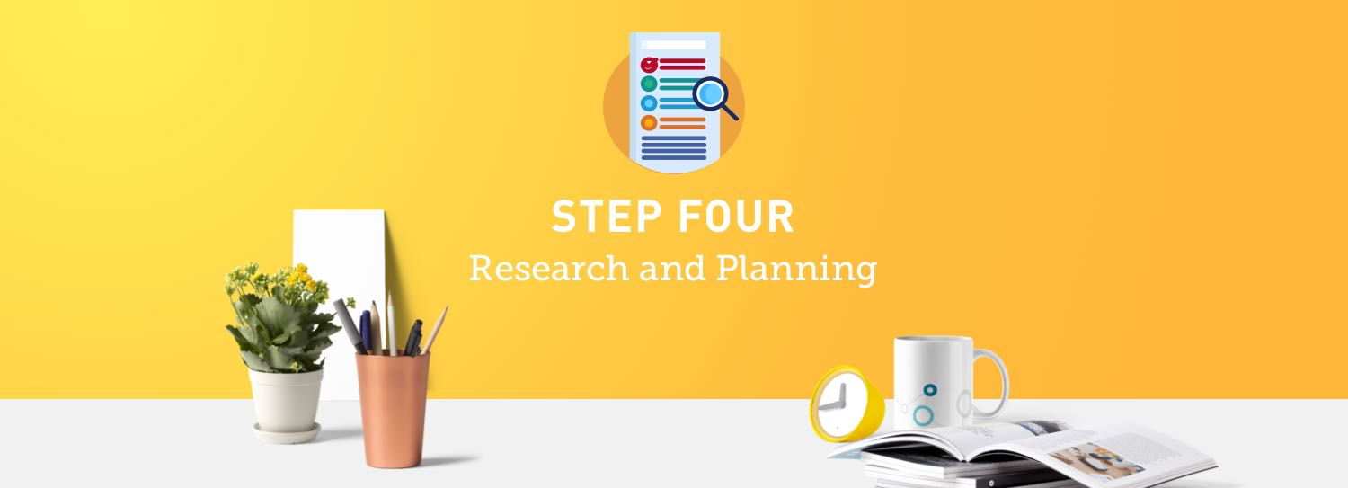 Website design process step four: Research and planning