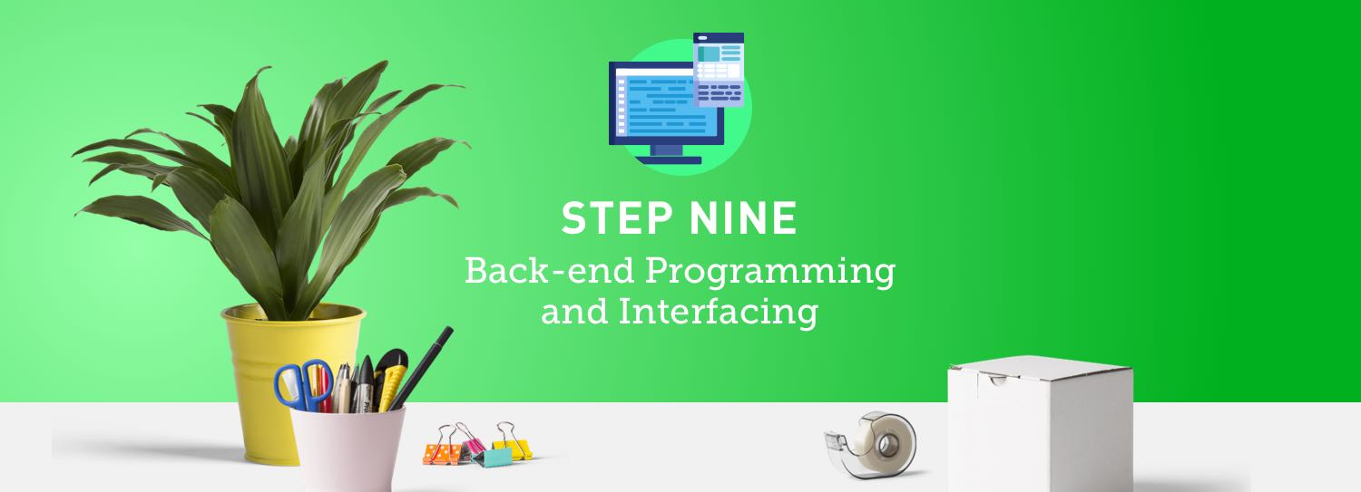 Website design process step nine: Back-end programming and interfacing