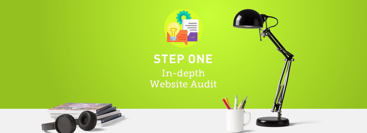 Website design process step one: Website audit and report