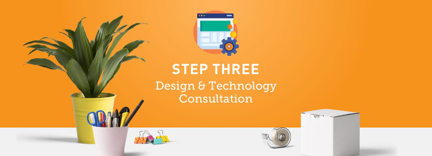 Website design process step three: Design and technology consultation