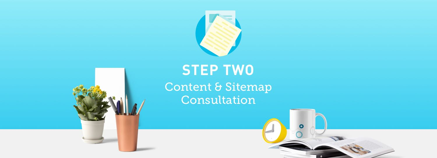 Website design process step two: Content and sitemap consultation