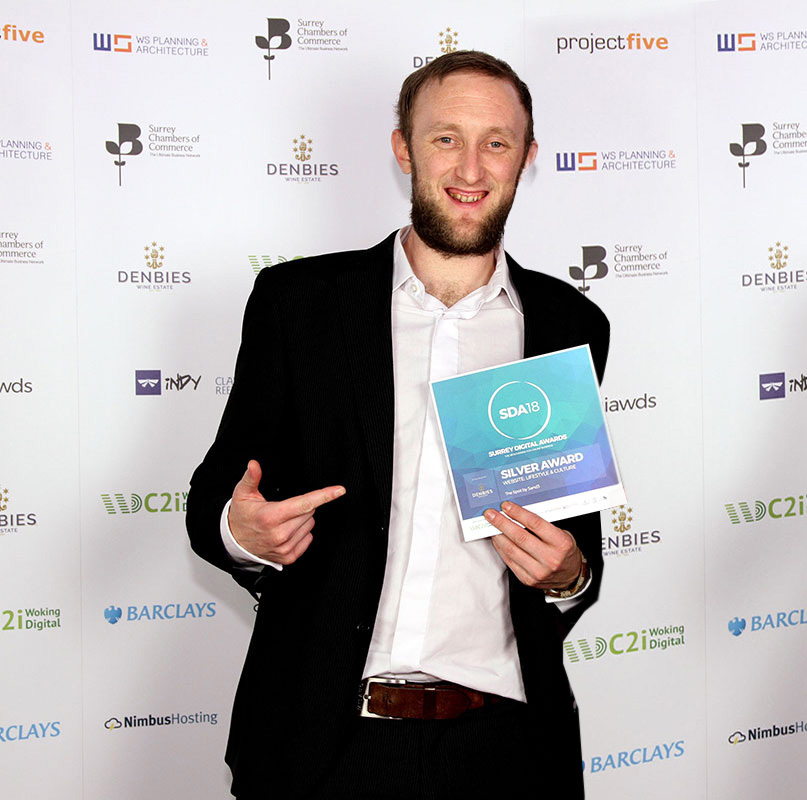 Surrey Digital Awards Winner Lifestyle and Culture 5and3