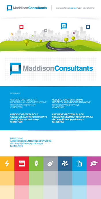 Branding, marketing and website solution for recruitment agency Maddison Consultants...