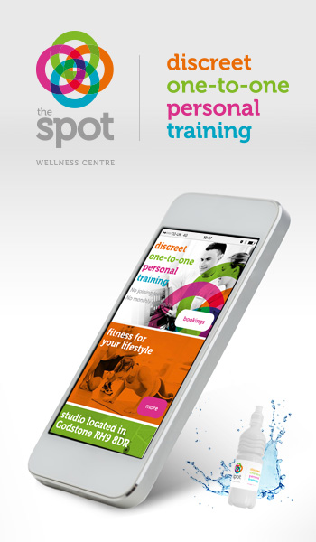 Branding, website and marketing for fitness and wellness centre 'the spot' Godstone...