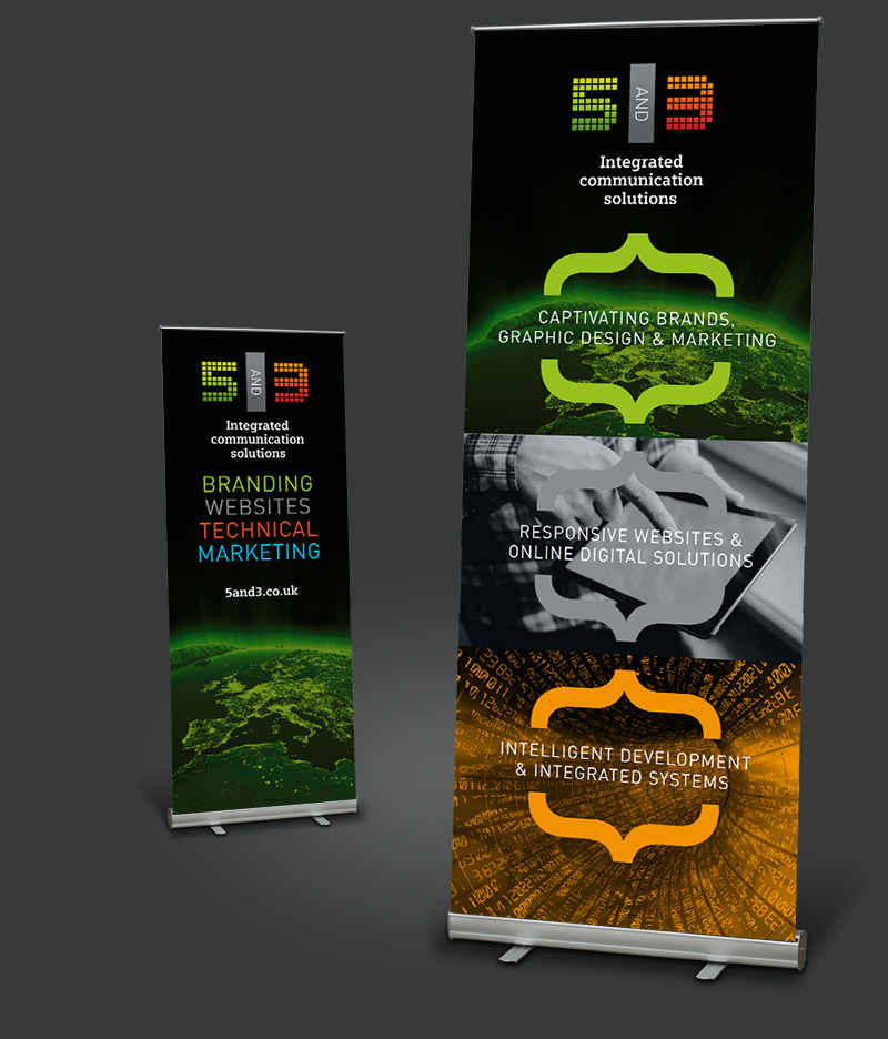 5and3 pull up banner design East Grinstead