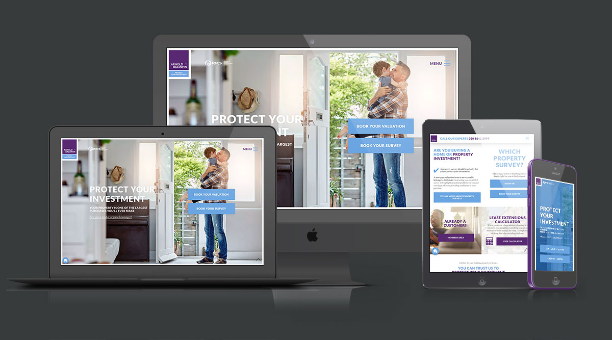 Lead  generating website design for Chartered Surveyors Arnold &